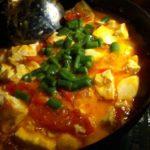 晩御飯のトマト豆腐