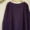 深紫色のTブラウス